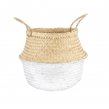 Silver Dipped Belly Basket 35cm